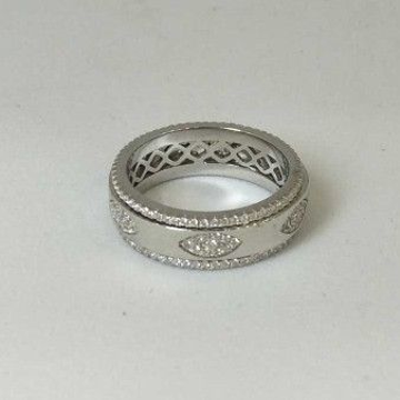 925 Sterling Silver AD Diamond Gents Band