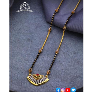 22 carat gold classical ladies mangalsutra RH-MN578