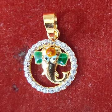 22K Ganesh cz diamond Pendant