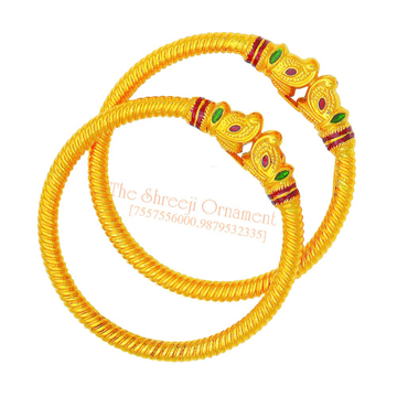 22KT Gold Colorful Meenakari Variya Kadali - 015