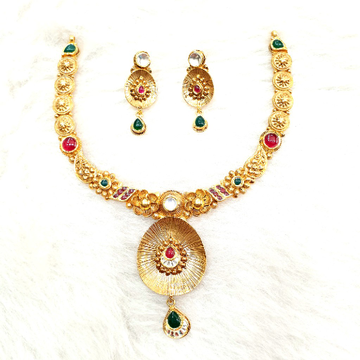 916 Gold Antique Necklace Set MGA - GN007