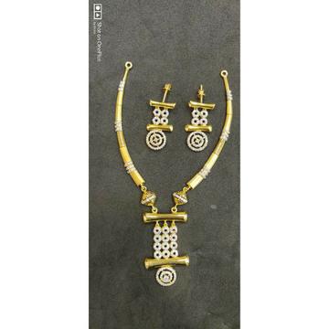 22K Ladies Fancy Necklace Designer Set - 56703