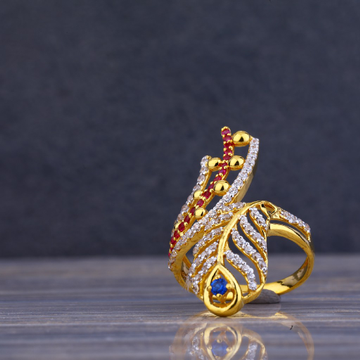 916 Gold Cz Ring for Ladies LLR80