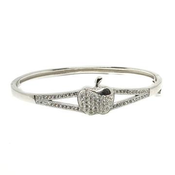925 Sterling Silver CZ Diamond Apple Shape kids Kada Bracelet MGA - BRS0369