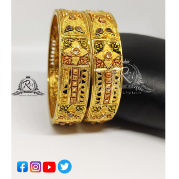 22 carat gold ladies bangles Rh-LB085
