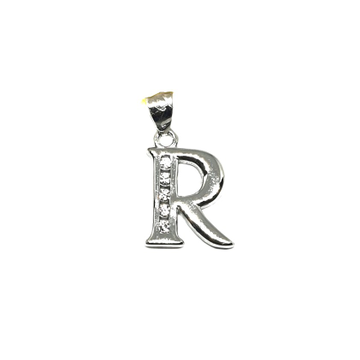 925 Sterling Silver Alphabet (Letter R) Pendant MGA - PDS0157
