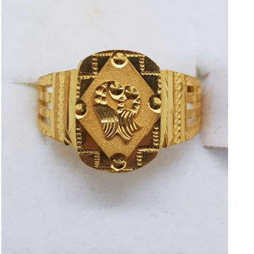 916 Gold Peacock gents ring SJ-GR/3