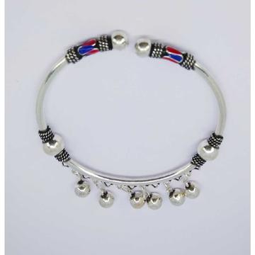 Oxidize enamel flexible ladies kada bracelet MG-B003
