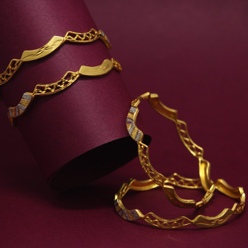916 Hallmarked Attractive Bangles by Simandhar Jewellers