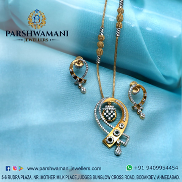 22kt cz & Fancy pendent set with Fancy chain for Women