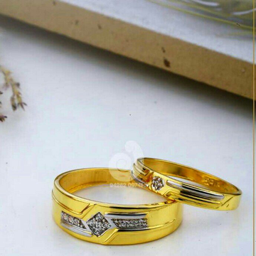 22 Ct Cz Fancy Couple Ring