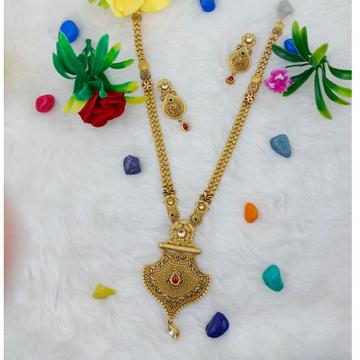 916 hallmark gold traditional ethnic design long n... by Ranka Jewellers