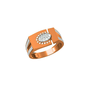 18Kt Exclusive Fancy Rose Gold Simple Men's Wear Ring-31324