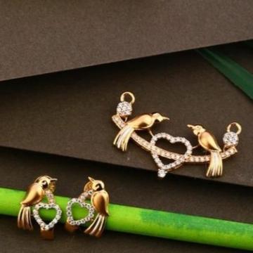 18 carat rose gold ladies pendants set RH-PS462