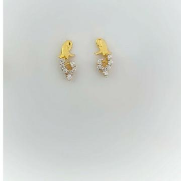 18k Delicate Earrings by Madhav Jewellers (TankaraWala)