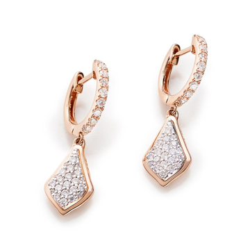 designer diamond hoop earring