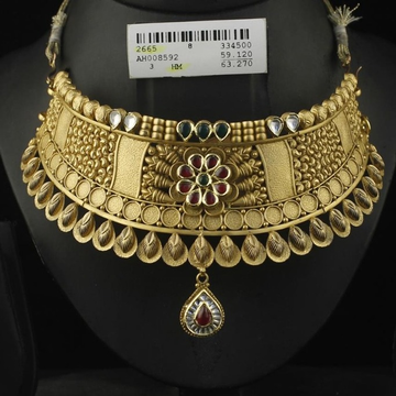 916 Gold Antique Bridal Choker Set by