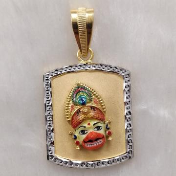 916 Gold Fancy Gent's Kastbhanjan Face Pendant