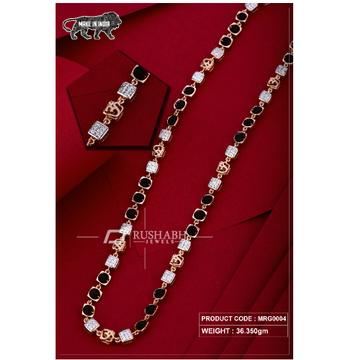 18 carat Rose gold rudraksh gents chain om mrg0004