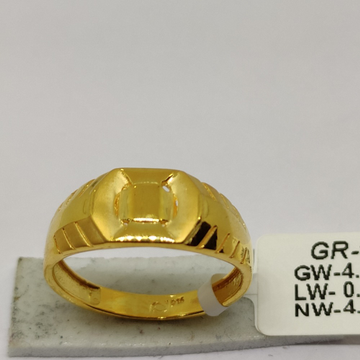 916 Gold Men's Rings SOG-R97 by S. O. Gold Private Limited