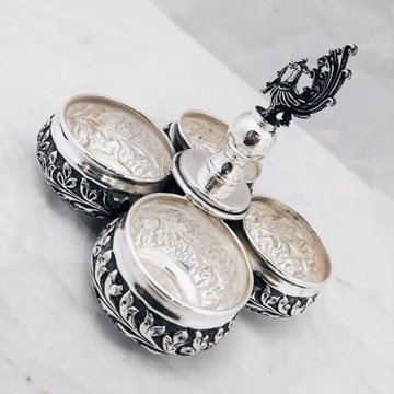 925 Pure Silver Mayur Kankavati In Antique Finish...