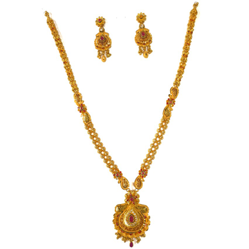 1 gram gold forming necklace set mga - gfn0021