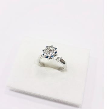 925 sterling silver floral adjustable Ring for women