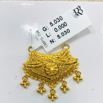 22 carat gold fancy mangalsutra RH-MN767