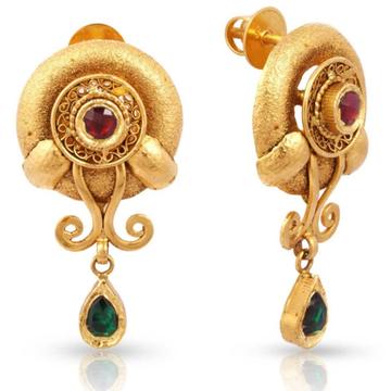 22 kt 916 gold jadtar earring by