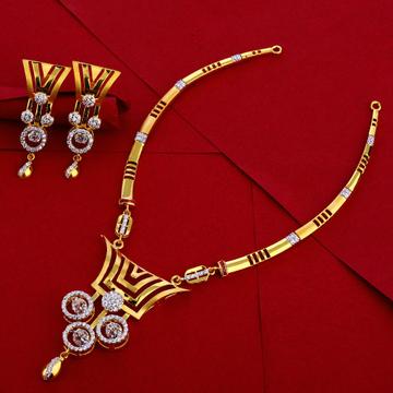 916 Gold Ladies Delicate Necklace Set LN257
