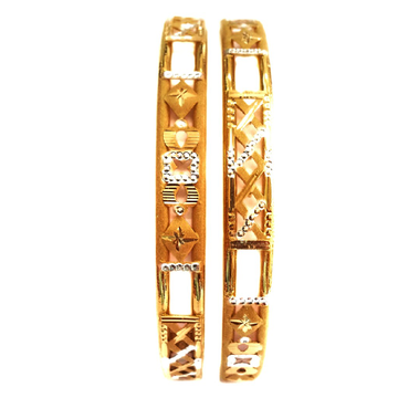 Plain gold copper kadli Bangles 22kt gold mga - gk057