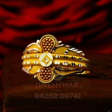 Unique Designer Plain Gold Ladies Ring LRG -0825