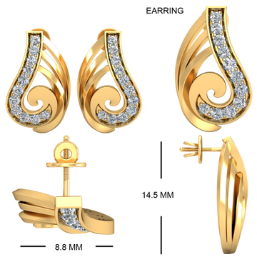 22Kt Yellow Gold Pleasing Pompon Earrings For Women