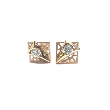 18k Ladies Fancy Rose Gold Earring E-60530