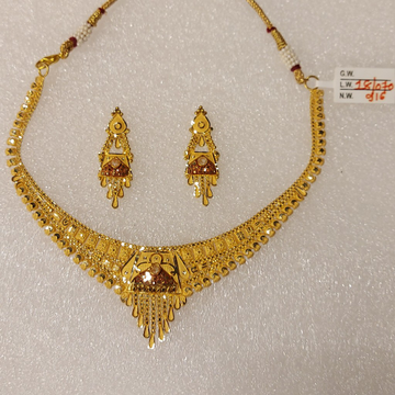 916 gold Set with colorful handmade designs by