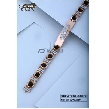 18 carat Rose gold rudraksh gents bracelet rxg0012 by