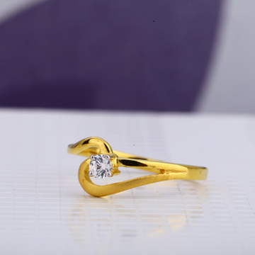 916 Ladies Designer  Single Stone Ring LSR63