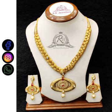22 carat gold designer  necklace set RH-LS511
