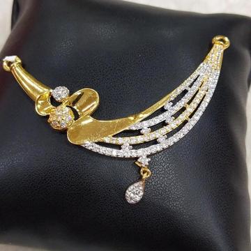 916 Gold 22kt Diamond Mangalsutra Pendal RH-MSP28