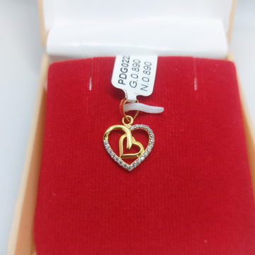 22ct hallmarked cute couple pendent by Parshwa Jewellers