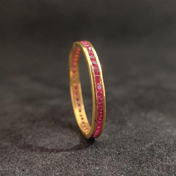 22K Fancy Ladies Daily Wear Gold Band-24701