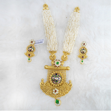 Gold Antique Jadtar Necklace Set RHJ 5255