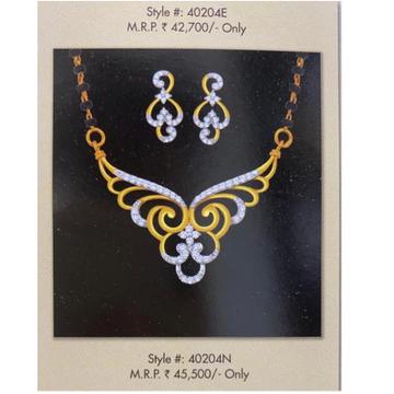 18Kt Gold and diamond bridal Mangalsutra set