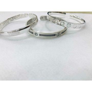 999 Sterling Silver Light Weight Dull Finishing Bracelet Kada Ms-2812