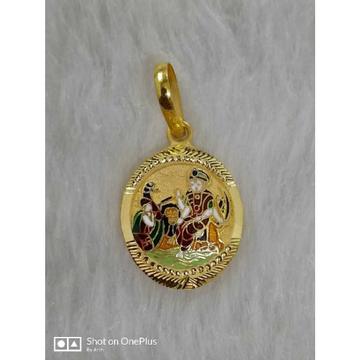Gold goddess pendant