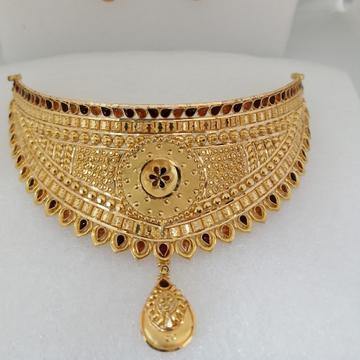 916 gold chokkar set by Vinayak Gold