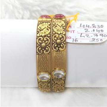916 Gold Antique Jadtar Bangles