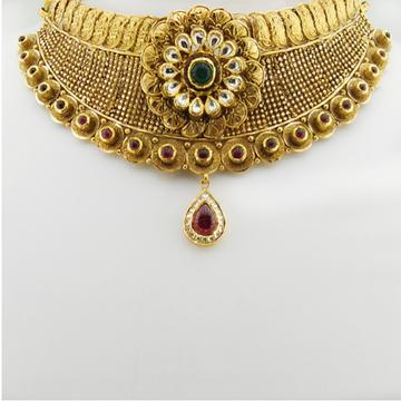 916 Gold Antique Bridal Necklace Set RHJ-3310