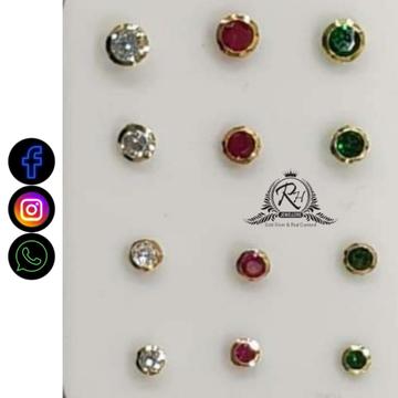 18 carat gold colour rings nosepin RH-NP601