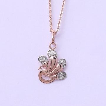 18 carat gold real daimonds fancy pendants RH-LP954